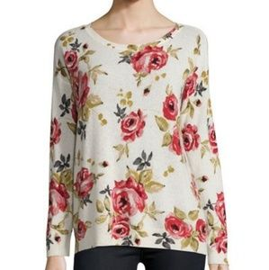 Joie cashmere floral sweater